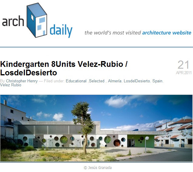 Kindergarten Velez-Rubio en ArchDaily