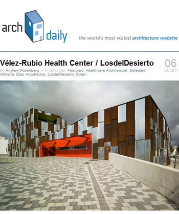 Velez-Rubio Heatlh Center and ArchDaily