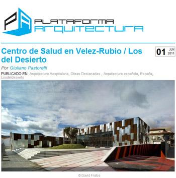 Centro de Salud de Vélez-Rubio en PLATAFORMA ARQUITECTURA